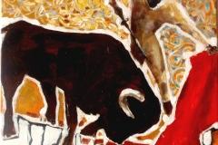 Ten, který tančí s býky 40 x 40 – PRODÁNO